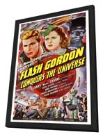Flash Gordon Conquers the Universe - 27 x 40 Movie Poster - Style A - in Deluxe Wood Frame