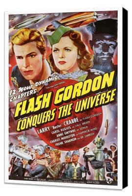 Flash Gordon Conquers the Universe - 27 x 40 Movie Poster - Style A - Museum Wrapped Canvas