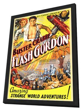 Flash Gordon - 11 x 17 Movie Poster - Style B - in Deluxe Wood Frame