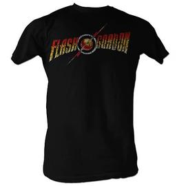 Flash Gordon - Logo Black T-Shirt