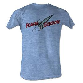 Flash Gordon - Comic Logo Light Blue T-Shirt