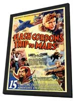 Flash Gordon's Trip to Mars - 11 x 17 Movie Poster - Style B - in Deluxe Wood Frame