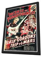 Flash Gordon's Trip to Mars - 27 x 40 Movie Poster - Style A - in Deluxe Wood Frame