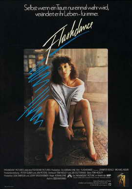 Flashdance - 27 x 40 Movie Poster - German Style A