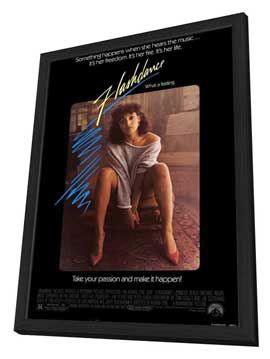 Flashdance - 27 x 40 Movie Poster - Style A - in Deluxe Wood Frame