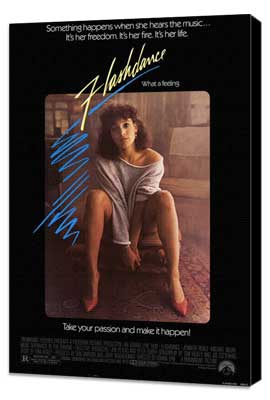 Flashdance - 27 x 40 Movie Poster - Style A - Museum Wrapped Canvas