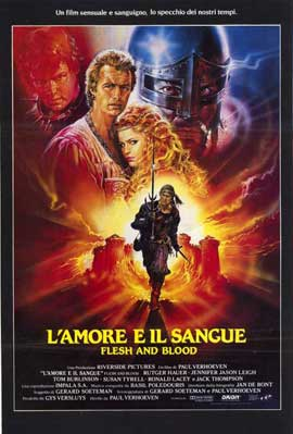 Flesh and Blood - 11 x 17 Movie Poster - Italian Style A