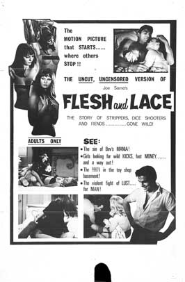 Flesh and Lace - 11 x 17 Movie Poster - Style A