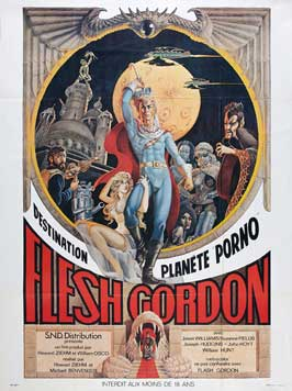 Flesh Gordon - 11 x 17 Movie Poster - French Style A