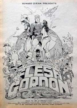 Flesh Gordon - 11 x 17 Movie Poster - Style B