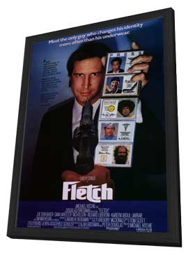 Fletch - 11 x 17 Movie Poster - Style A - in Deluxe Wood Frame