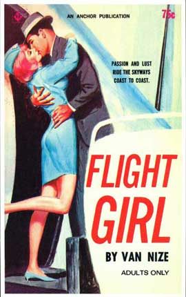 Flight Girl - 11 x 17 Retro Book Cover Poster