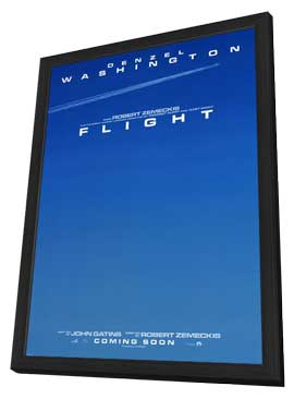 Flight - 27 x 40 Movie Poster - Style A - in Deluxe Wood Frame