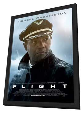 Flight - 11 x 17 Movie Poster - Style B - in Deluxe Wood Frame