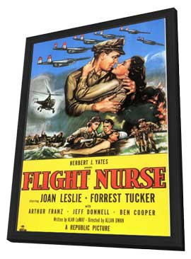 Flight Nurse - 11 x 17 Movie Poster - Style A - in Deluxe Wood Frame
