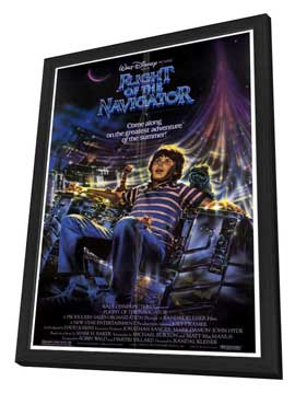 Flight of the Navigator - 27 x 40 Movie Poster - Style A - in Deluxe Wood Frame
