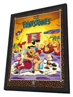 The Flintstones (TV) - 27 x 40 TV Poster - Style A - in Deluxe Wood Frame