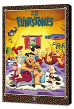 The Flintstones (TV) - 27 x 40 TV Poster - Style A - Museum Wrapped Canvas