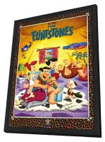 The Flintstones (TV) - 11 x 17 TV Poster - Style A - in Deluxe Wood Frame
