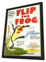 Flip the Frog - 11 x 17 Movie Poster - Style A - in Deluxe Wood Frame