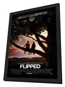 Flipped - 11 x 17 Movie Poster - Style A - in Deluxe Wood Frame