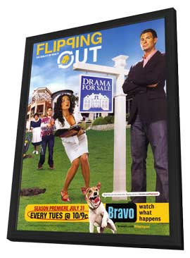 Flipping Out - 11 x 17 Movie Poster - Style A - in Deluxe Wood Frame