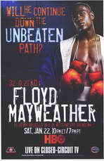 Floyd Mayweather vs Henry Bruseles - 11 x 17 Boxing Promo Poster - Style A