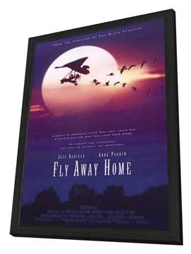Fly Away Home - 11 x 17 Movie Poster - Style B - in Deluxe Wood Frame