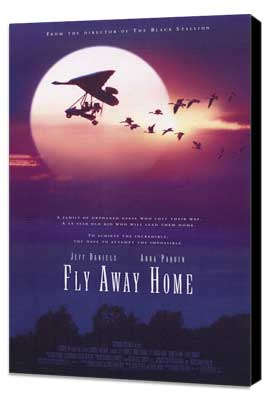 Fly Away Home - 11 x 17 Movie Poster - Style B - Museum Wrapped Canvas