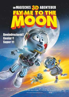 Fly Me To The Moon - 27 x 40 Movie Poster - German Style A