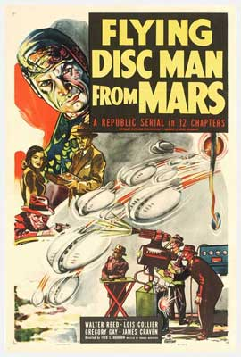 Flying Disc Man from Mars - 11 x 17 Movie Poster - Style A
