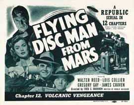 Flying Disc Man from Mars - 22 x 28 Movie Poster - Half Sheet Style A