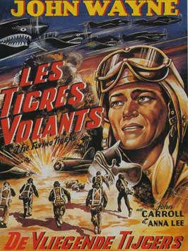 Flying Tigers - 11 x 17 Movie Poster - Belgian Style A