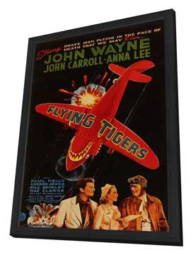 Flying Tigers - 27 x 40 Movie Poster - Style A - in Deluxe Wood Frame