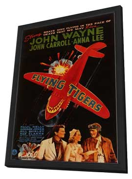 Flying Tigers - 11 x 17 Movie Poster - Style A - in Deluxe Wood Frame
