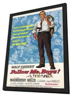 Follow Me, Boys! - 27 x 40 Movie Poster - Style A - in Deluxe Wood Frame