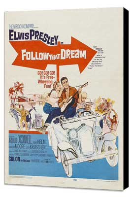 Follow That Dream - 11 x 17 Movie Poster - Style C - Museum Wrapped Canvas
