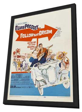 Follow That Dream - 27 x 40 Movie Poster - Style A - in Deluxe Wood Frame