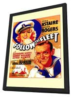 Follow the Fleet - 11 x 17 Movie Poster - Style A - in Deluxe Wood Frame