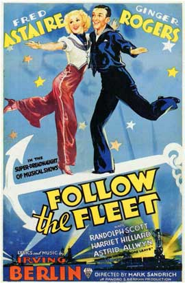 Follow the Fleet - 11 x 17 Movie Poster - Style B