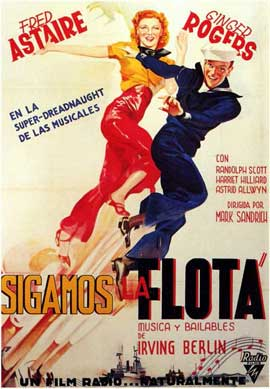 Follow the Fleet - 11 x 17 Movie Poster - Spanish Style A