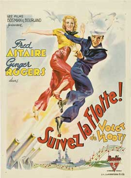 Follow the Fleet - 11 x 17 Movie Poster - Belgian Style A