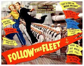 Follow the Fleet - 11 x 17 Movie Poster - Style E