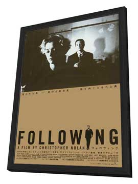 Following - 27 x 40 Movie Poster - Japanese Style A - in Deluxe Wood Frame