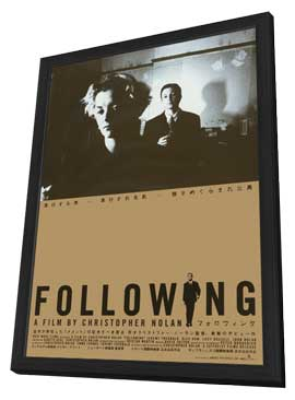Following - 11 x 17 Movie Poster - Japanese Style A - in Deluxe Wood Frame