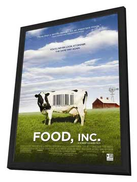 Food, Inc. - 11 x 17 Movie Poster - Style A - in Deluxe Wood Frame