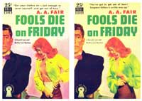 Fools Die on Friday - 11 x 17 Retro Book Cover Poster