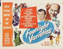 Footlight Varieties - 22 x 28 Movie Poster - Half Sheet Style A