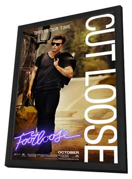Footloose - 11 x 17 Movie Poster - Style C - in Deluxe Wood Frame