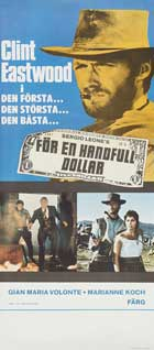 For a Few Dollars More - 14 x 36 Movie Poster - Swedish Style A